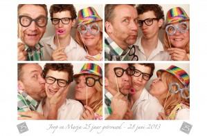 photo booth huren 25 jaar getrouwd in Almere