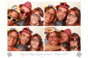 foto booth huren 25 jaar getrouwd in Almere
