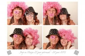 fotobooth huren 25 jaar getrouwd in Almere