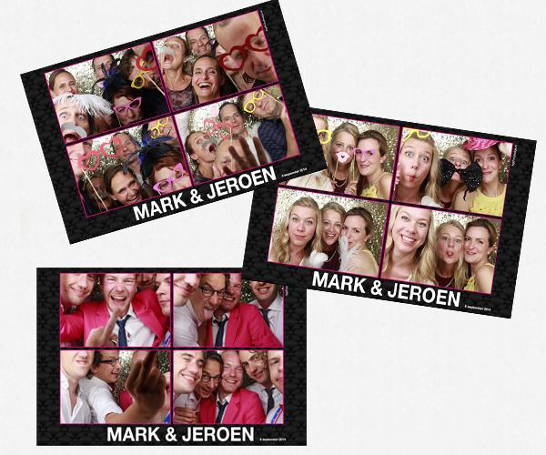 Het fotohokje van Mark en Jeroen