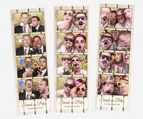 De photobooth van Sarah en Peter