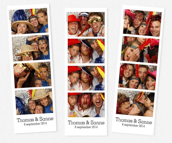 De photobooth van Thomas en Sanne