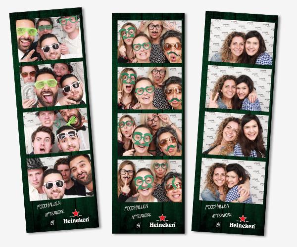 Het fotohokje tijdens de Heineken Afterwork