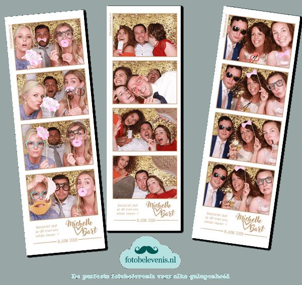 photobooth in haarlem voor een bruiloft 4 fotostrips foto's