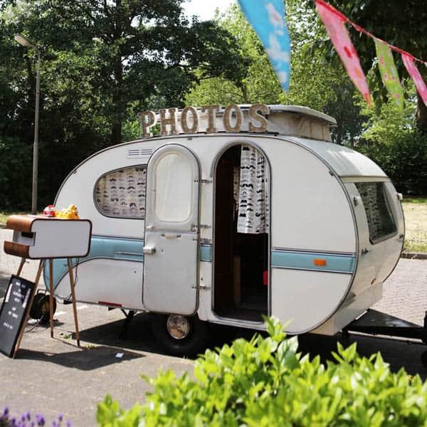 Fotobooth vintage foto caravan