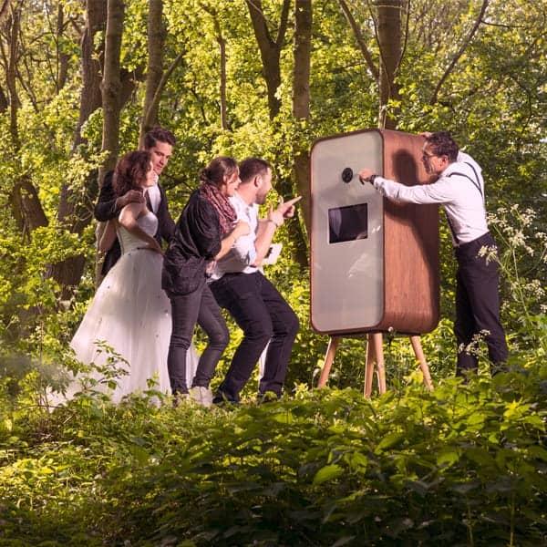 Fotozuil fotodoos huren trouwen in Overijssel photobooth
