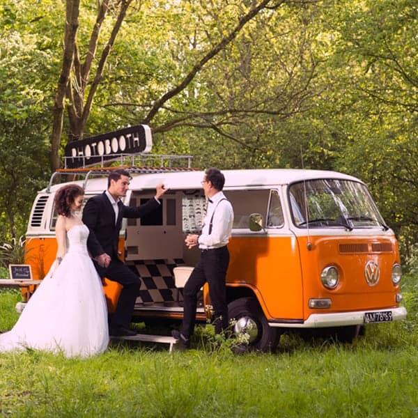 Volkswagen photobooth fotobus huren bruiloft personeelsfeest Haarlem Noord Holland