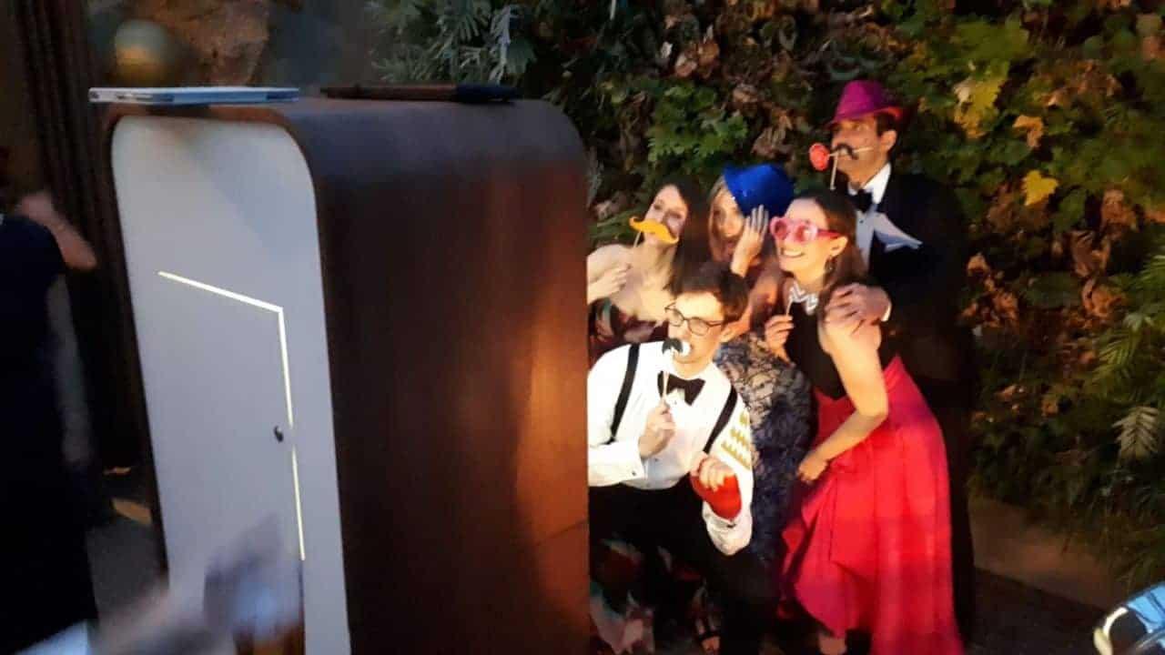 photo booth tijdens bruiloft in Enschede