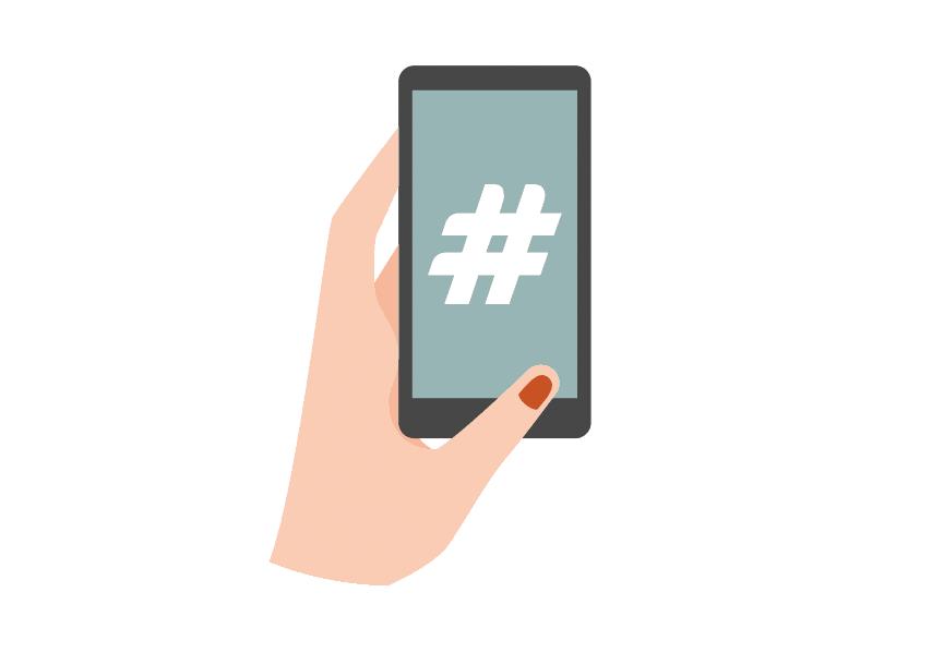 Hashtag printer social media upload