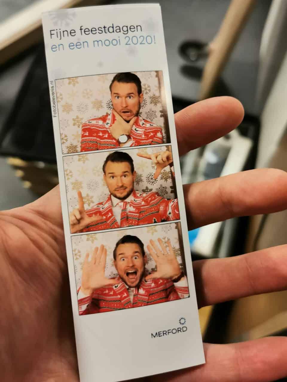 Kerstborrel photobooths fotohokje