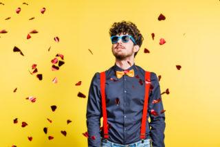 Photobooth maken diy man op eigengemaakte foto