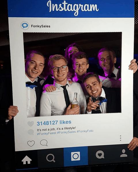 Instagram fotoframe sociale media