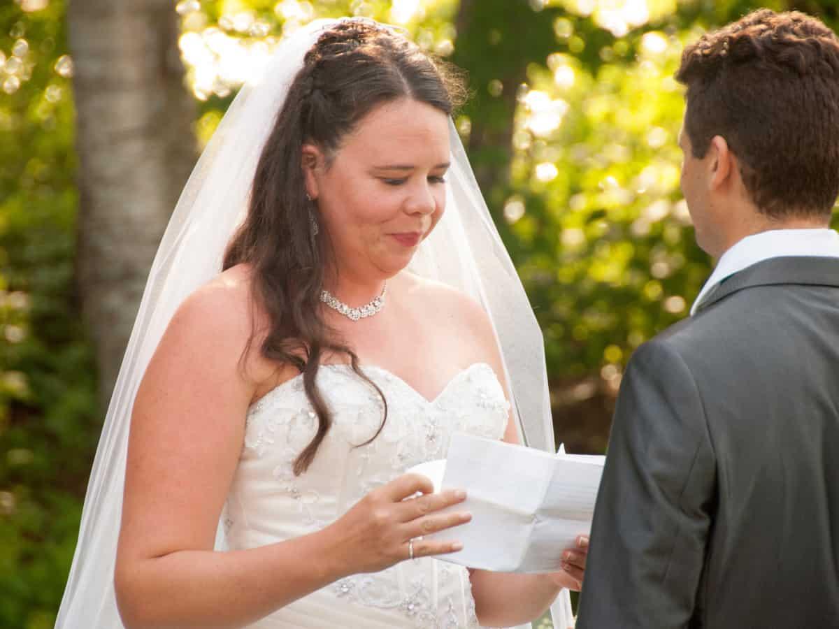 Geloften uitspreken tijdens huwelijksvoltrekking