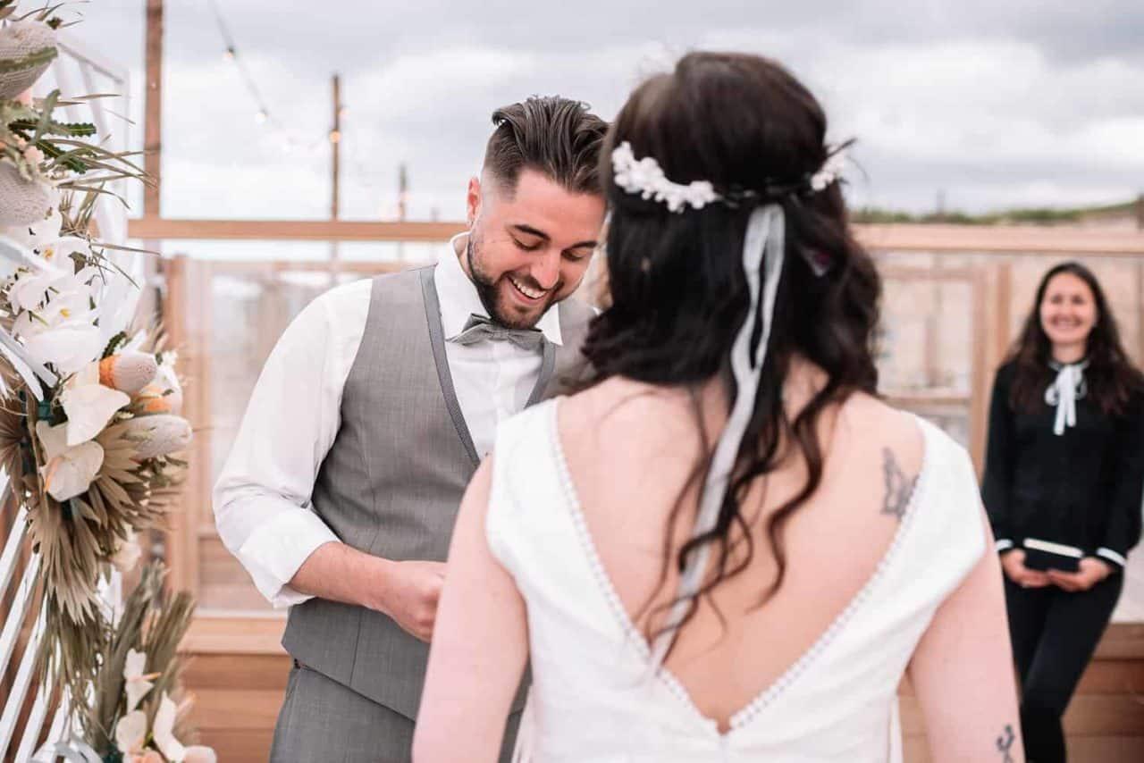 Huwelijksvoltrekking trouwceremonie