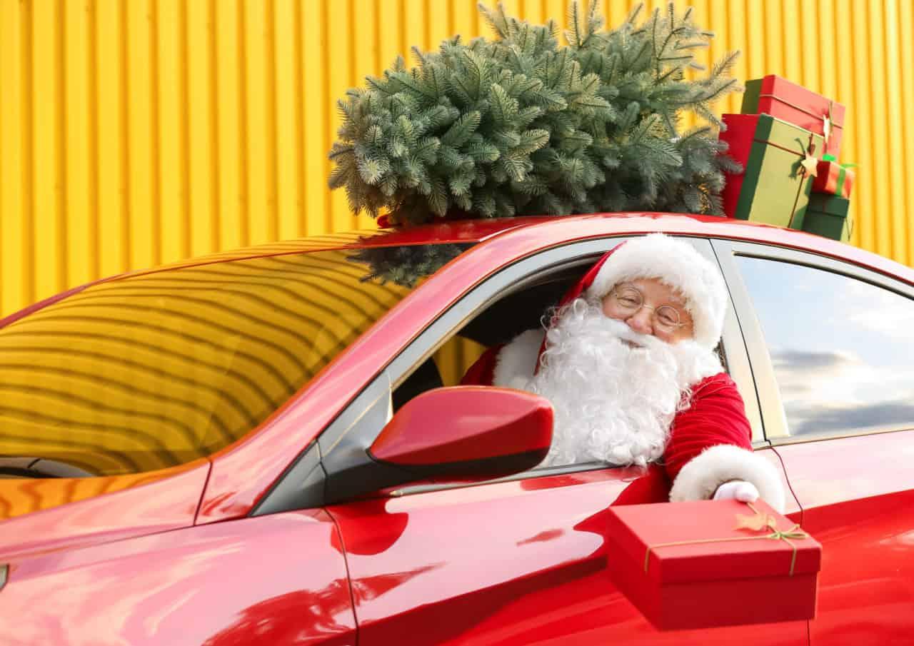 Christmas drive thru met Kerstman