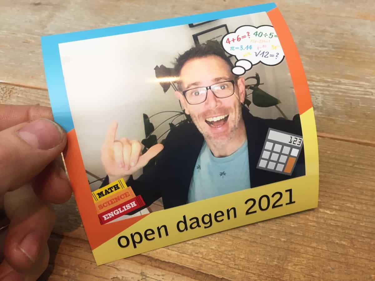 Fotobooth online open dag school