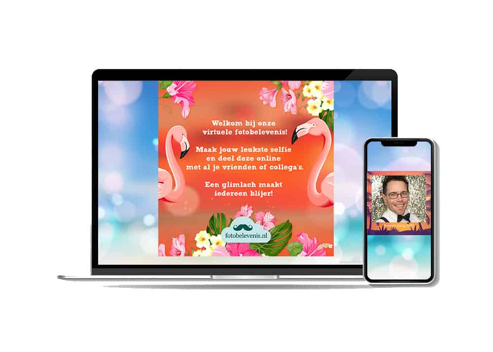 Virtuele photobooth online evenement organiseren