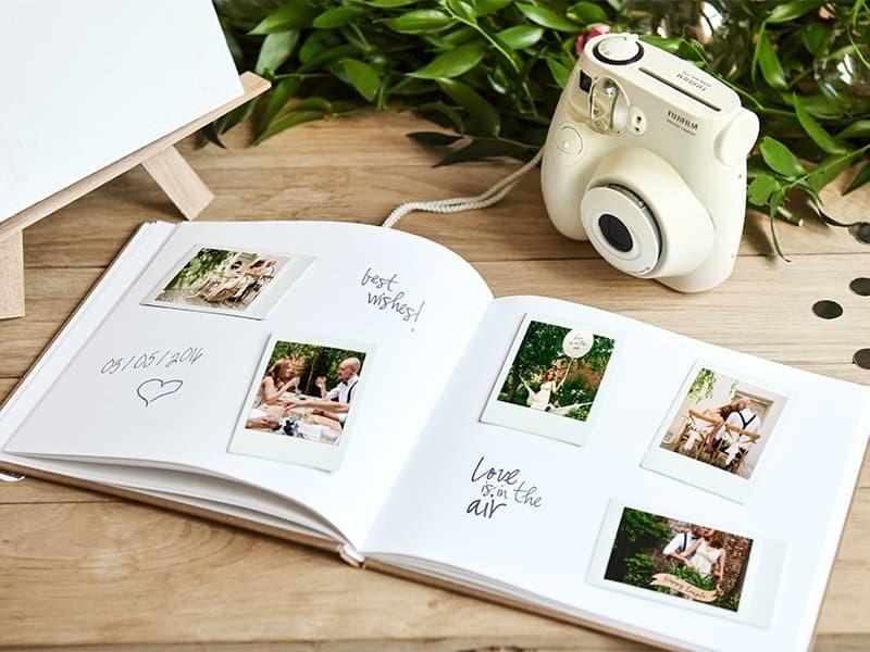 Gastenboek polaroid huwelijk verjaardag