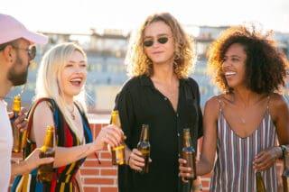 online borrel organiseren summer drinks photobooth