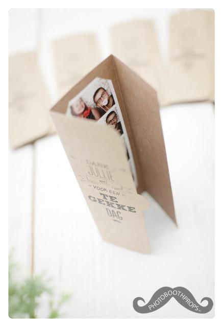 Hoesje voor fotohokje foto als bedankje voor bruiloften of marketing doeleinden voor bedrijven