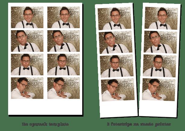 Fotostrip photobooth gesneden fotoprinter