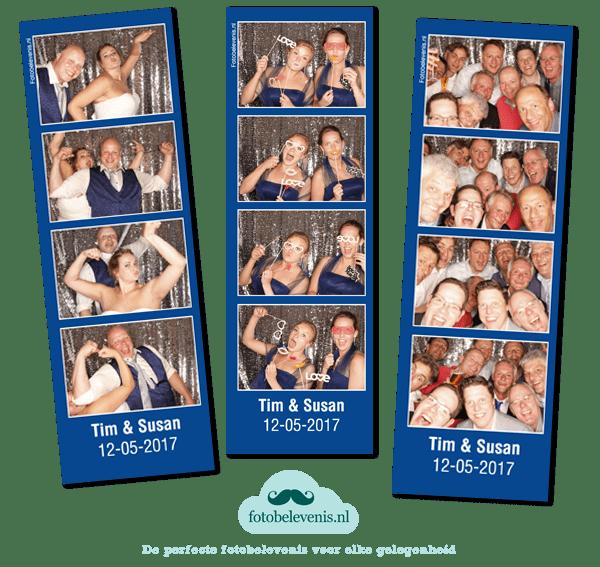 Fotobox Haarzuilens bruiloft Time en Susan