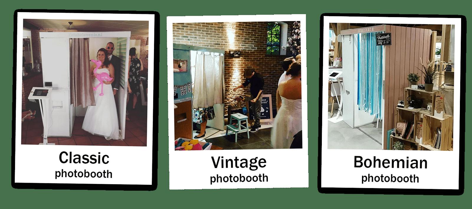 fotohokje overzicht bruiloften en feesten