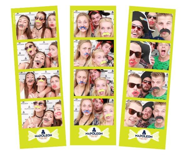 Fotohokje marketing photo booth afdrukken verkrijgbaar met bedrijfslogo