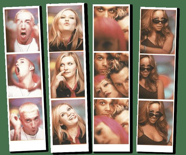 MTV Photobooth gekke foto's van wereldberoemde sterren