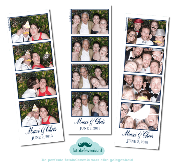 Photo booth bruiloft Groot Warnsborn