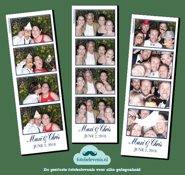 Photo booth bruiloft Groot Warnsborn