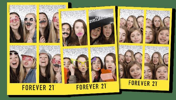 Photobooth Amsterdam Forever 21