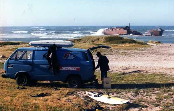 windsurfen in Klitmoller Denemarken 1996