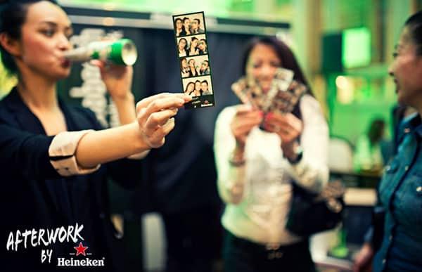 Fotostrip Fotohokje Heineken