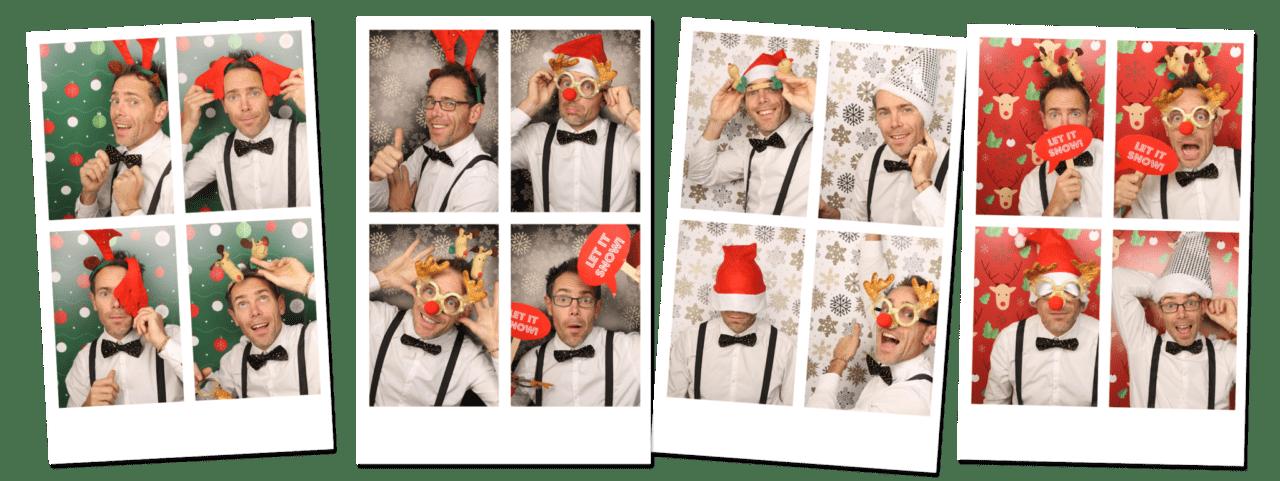 Photobooth huren kerst achterwanden