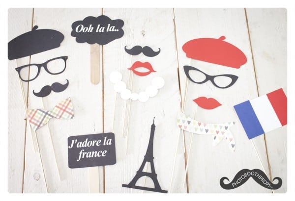 Photo booth props Frankrijk thema